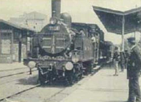 1896 - L'arrivo del treno alla stazione