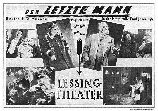 Der letzte Mann - Murnau 1924